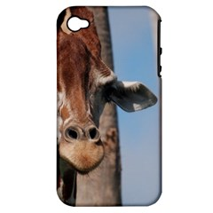 Cute Giraffe Apple iPhone 4/4S Hardshell Case (PC+Silicone)