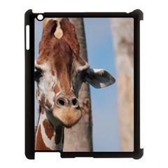 Cute Giraffe Apple Ipad 3/4 Case (black)