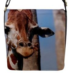 Cute Giraffe Flap Closure Messenger Bag (small)