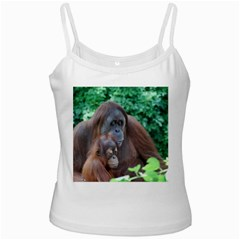 Orangutan Family White Spaghetti Tank