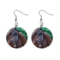 Orangutan Family Mini Button Earrings