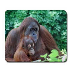 Orangutan Family Large Mouse Pad (Rectangle)