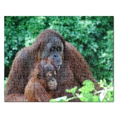 Orangutan Family Jigsaw Puzzle (Rectangle)
