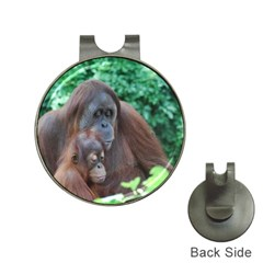 Orangutan Family Hat Clip with Golf Ball Marker