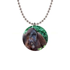 Orangutan Family Button Necklace