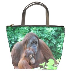 Orangutan Family Bucket Handbag