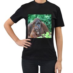 Orangutan Family Women s T-shirt (Black)