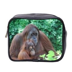 Orangutan Family Mini Travel Toiletry Bag (Two Sides)