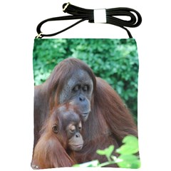 Orangutan Family Shoulder Sling Bag