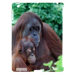 Orangutan Family Apple Ipad 3/4 Hardshell Case (compatible With Smart Cover)