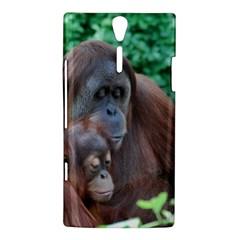 Orangutan Family Sony Xperia S Hardshell Case