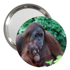 Orangutan Family 3  Handbag Mirror