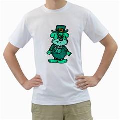 Leprechaun Scottish Dog 2 Men s T Shirt (white)