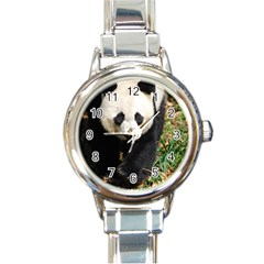 Giant Panda Round Italian Charm Watch