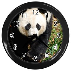 Giant Panda Wall Clock (black)