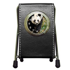 Giant Panda Stationery Holder Clock