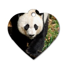 Giant Panda Dog Tag Heart (Two Sided)