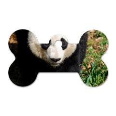 Giant Panda Dog Tag Bone (One Sided)