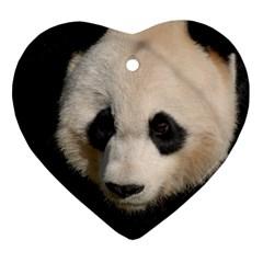 Adorable Panda Heart Ornament
