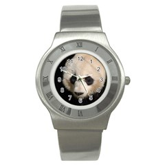 Adorable Panda Stainless Steel Watch (Slim)