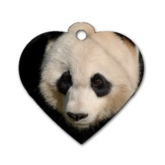Adorable Panda Dog Tag Heart (Two Sided)