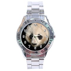 Adorable Panda Stainless Steel Watch