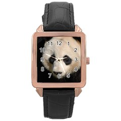 Adorable Panda Rose Gold Leather Watch