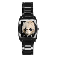 Adorable Panda Stainless Steel Barrel Watch