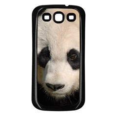 Adorable Panda Samsung Galaxy S3 Back Case (Black)