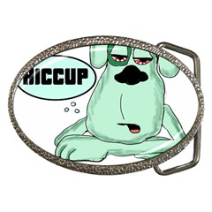 Irish Drunk Green Dog 0 Belt Buckle (oval)