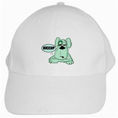 Irish Drunk Green Dog 0 White Baseball Cap