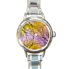 Branches Round Italian Charm Watch