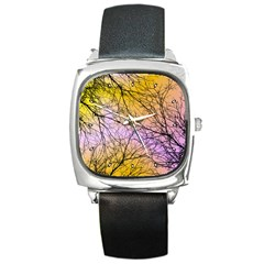 Branches Square Leather Watch