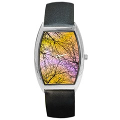 Branches Tonneau Leather Watch