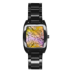 Branches Stainless Steel Barrel Watch