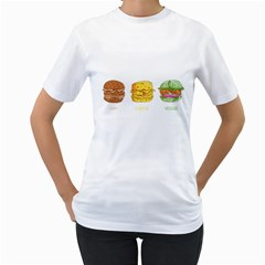 Burgers Women s T Shirt (white)