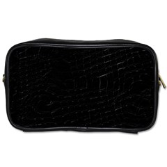 Black Toiletries Bag (Two Sides)