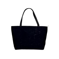 Navy Blue Classic Shoulder Handbag
