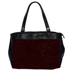 Burgundy Oversize Office Handbag (Two Sides)