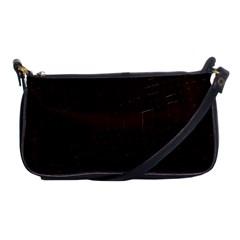 Burgundy Shoulder Clutch Bag