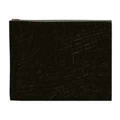 Dark Brown Cosmetic Bag (XL)