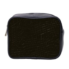 Dark Brown Mini Toiletries Bag (Two Sides)