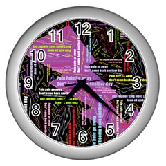 Pain Pain Go Away Wall Clock (silver)