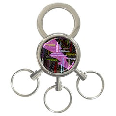 Pain Pain Go Away 3-Ring Key Chain