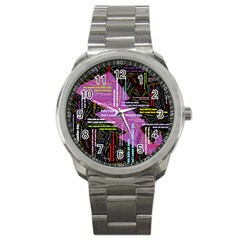 Pain Pain Go Away Sport Metal Watch