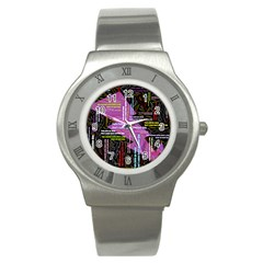 Pain Pain Go Away Stainless Steel Watch (Slim)
