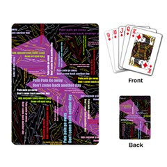 Pain Pain Go Away Playing Cards Single Design