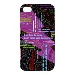 Pain Pain Go Away Apple Iphone 4/4s Hardshell Case