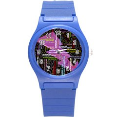 Pain Pain Go Away Plastic Sport Watch (Small)