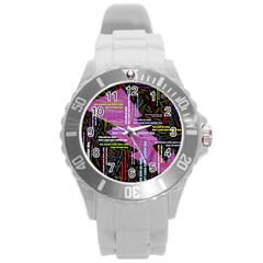 Pain Pain Go Away Plastic Sport Watch (Large)